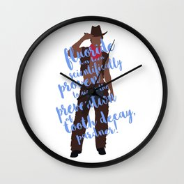 dental cowboy Wall Clock