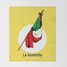 La Bandera Mexican Loteria Card Throw Blanket