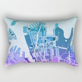 Sydney Map (Mosaic) Rectangular Pillow
