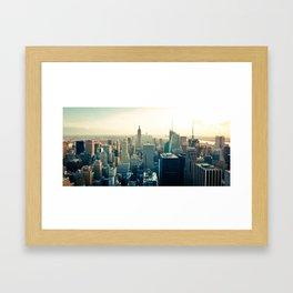 Good Evening New York City Framed Art Print