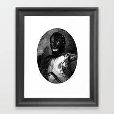 BDSM mask Framed Art Print