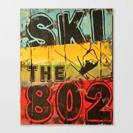 Ski the 802 Canvas Print
