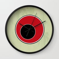 sushi Wall Clocks featuring Sushi by Roprats.