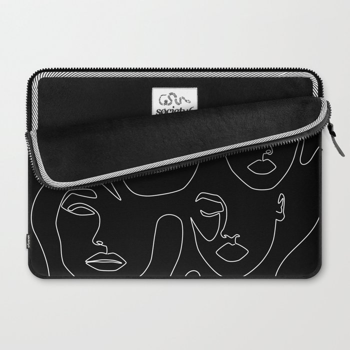 Faces in Dark Laptop Sleeve