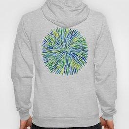 Watercolor Burst – Blue & Green Hoody