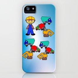 Kleiner Bauarbeiter iPhone Case