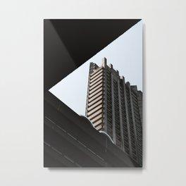 barbican brutalist architecture Metal Print