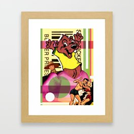 A judgement a happen dung a dis a place yah Framed Art Print