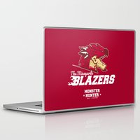 monster hunter Laptop & iPad Skins featuring Monster Hunter All Stars - The Minegarde Blazers by Bleached ink