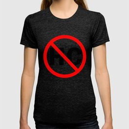 Hazardous cargo prohibited highway sign T-shirt