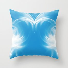 abstract fractals mirrored reacwb Throw Pillow