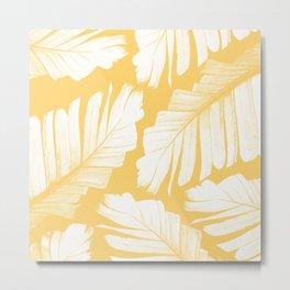 Yellow Banana Leaves Dream #1 #tropical #decor #art #society6 Metal Print