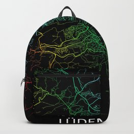 Lüdenscheid, Germany, Rainbow, City, Map Backpack