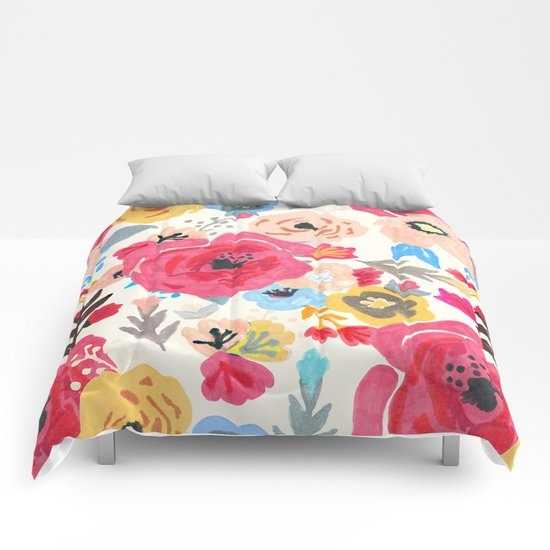Summer Flora Comforters
