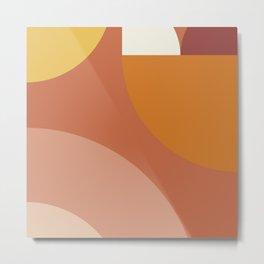 Geometric shapes terracotta III Metal Print