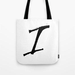 Letter I Ink Monogram Tote Bag