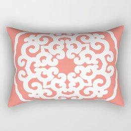 Salmon Asian Moods Mandalla Rectangular Pillow