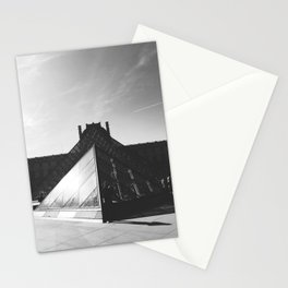 The Pyramid du Louvre in Black and White Stationery Cards