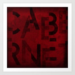 Cabernet Wine Typography Art Print
