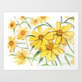 Sunny Flowers Perennial Art Print