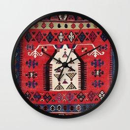 Aydinli Southwest Anatolian Niche Kilim Print Wall Clock