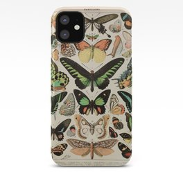 Papillon II Vintage French Butterfly Chart by Adolphe Millot iPhone Case