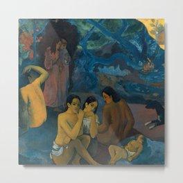 """Paul Gauguin """"D'où venons-nous? Que sommes-nous? Où allons-nous?"""" Metal Print"""