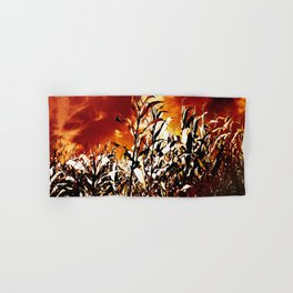 Fire in the corn field Hand & Bath Towel