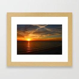 Fiery Evening Sky Framed Art Print