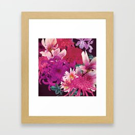 Magnolia and Chrysanthemum Framed Art Print