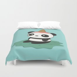 Kawaii Cute Panda Ice Cream Duvet Cover