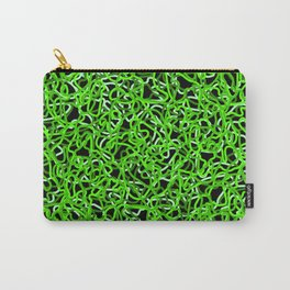 Chaotic white tangled ropes and green dark lines. Carry-All Pouch