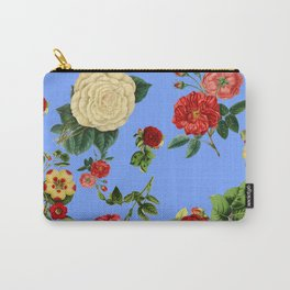Blue vintage roses Carry-All Pouch