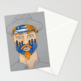 Forest Man Stationery Cards