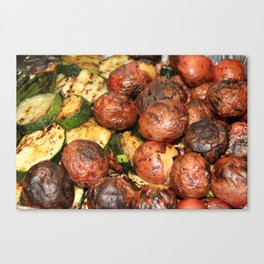 Roasted Vegetables Canvas Print