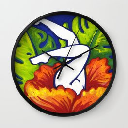 A very Rare Tropical Flower Wall Clock