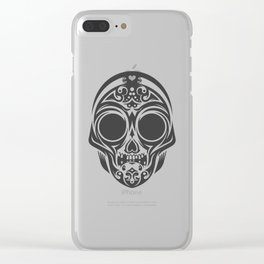 Skull mask Clear iPhone Case