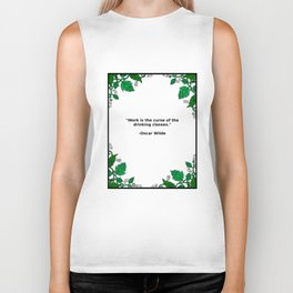 Brews & Hues: a Quote from Oscar Wilde (Portrait) Biker Tank