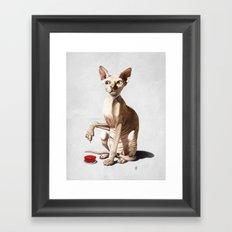Cat-astrophe (Wordless) Framed Art Print