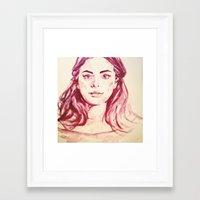 selena gomez Framed Art Prints featuring Selena by AlysIndigo