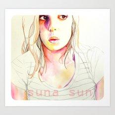 Sara Sarita watercolor acuarela  Art Print