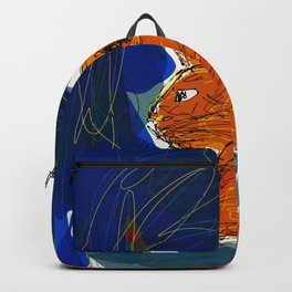 Socca Ginger Cat Art Backpack