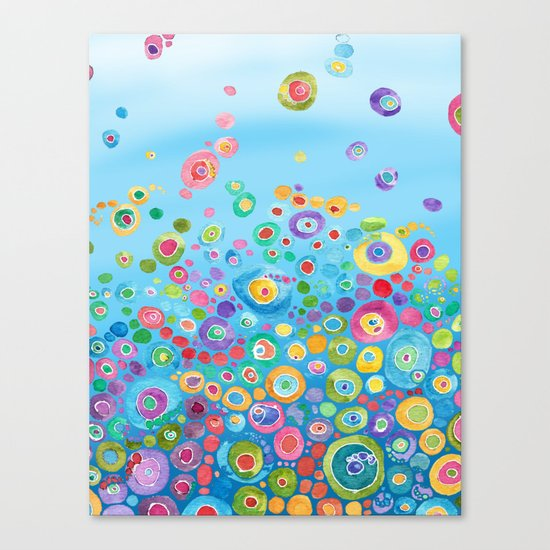 Inner Circle - Blue Canvas Print