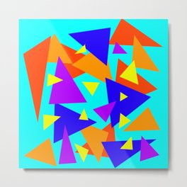 Triangled to death Metal Print