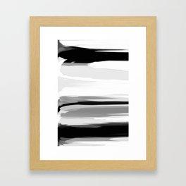 Soft Determination Black & White Framed Art Print