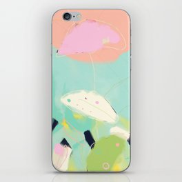minimal floral abstract art iPhone Skin