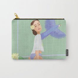 Girl with a parrot Carry-All Pouch
