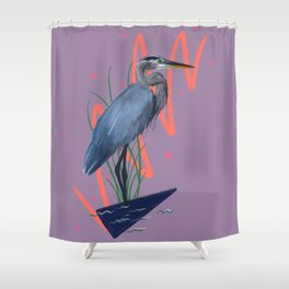 Great blue on the Bayou Shower Curtain