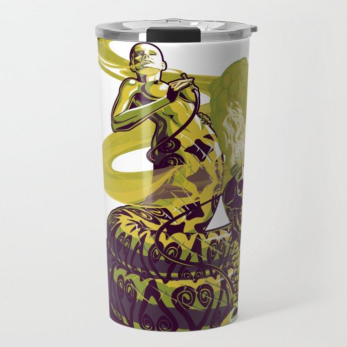 SnakeWoman and Demon-Skull Bong Travel Mug