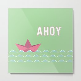ahoi green Metal Print